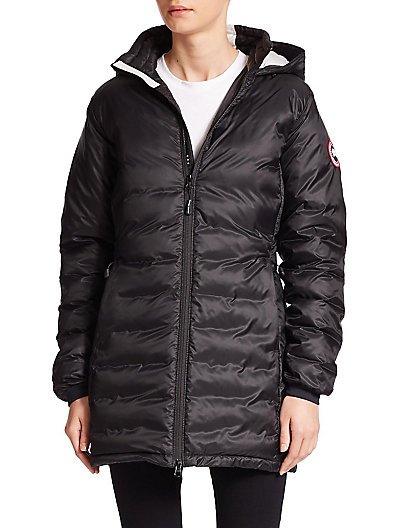 Camp Hooded Quilted Shell Down Jacket, Black