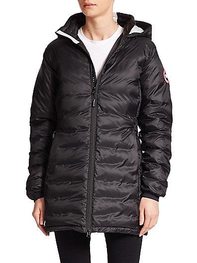 Brookvale Quilted Hoodie Puffer Jacket, Gray/Black