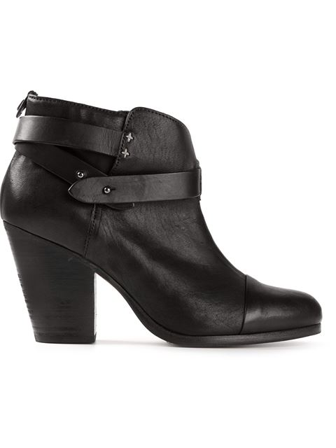 Harrow Leather Ankle Boots - Black Size 5