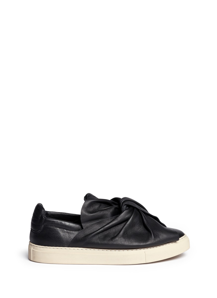 PORTS 1961 20MM KNOT LEATHER SLIP-ON SNEAKERS 5nqtFQF6