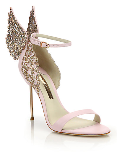 SOPHIA WEBSTER 100Mm Evangeline Wing Leather Sandals, Light Pink ...