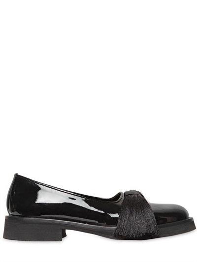 ALEKSANDER SIRADEKIAN 4Cm Tasseled Patent Leather Loafers in Black