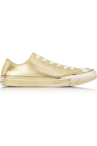 611ff736700 Converse Chuck Taylor All Star Chrome Metallic Leather Sneakers In Gold