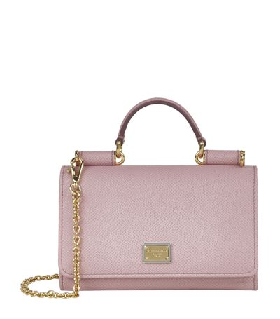 ... Dolce Gabbana Dauphine Phone Bag In Pink new style bd333 c5239 ... 31a9b9f8542a8