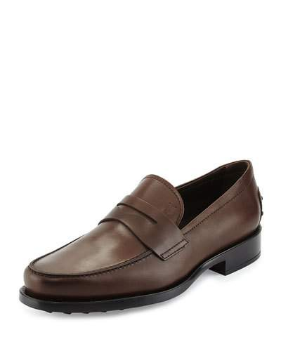 Men'S Leather Loafers Moccasins, Dark Brown Leather