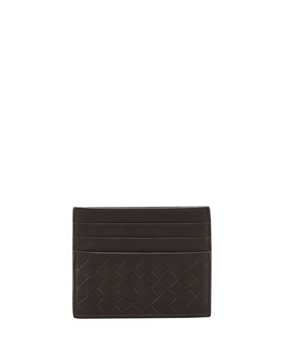 BOTTEGA VENETA Intrecciato Card Case - Brown