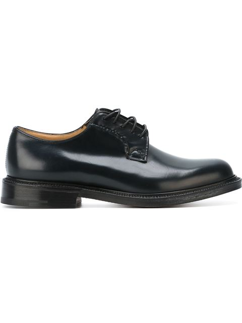 CHURCH'S Brogue Shoes Shannon Derby Shoes Laced With Goodyear Processing, Black