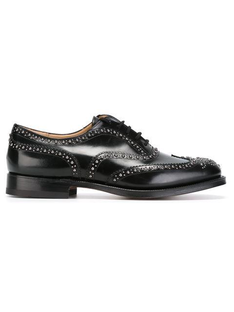 CHURCH'S Burwood 2S Polish Binder Lace-Up Shoes, Black