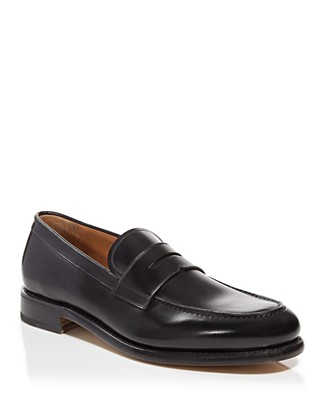 Men'S Rinaldo Moc Toe Classic Loafers With Wooden Sole, Nero