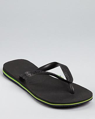 HAVAIANAS Men'S Brazil Flip-Flop Sandals Men'S Shoes in Black