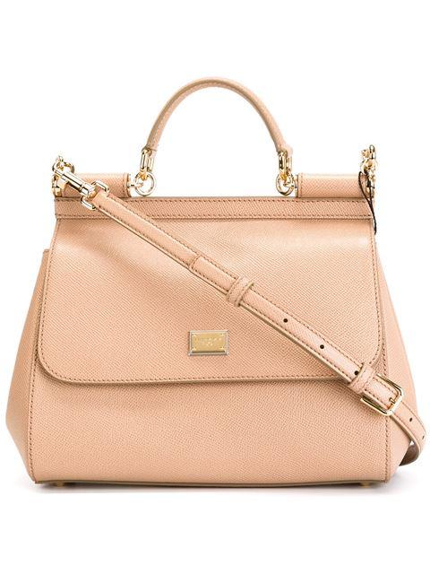 Small Sicily Shoulder Bag in Brown