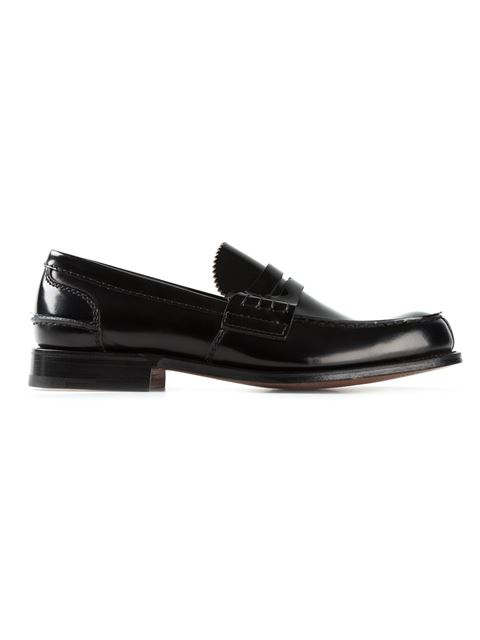 CHURCH'S Tunbridge Leather Loafers, Black
