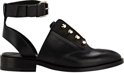 Balenciaga Leather Cutout Oxfords