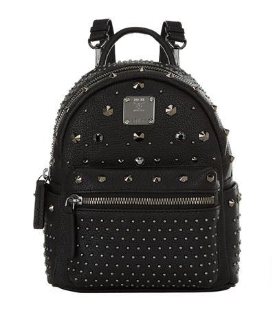 'X Mini Stark - Bebe Boo' Studded Leather Backpack, Space Black
