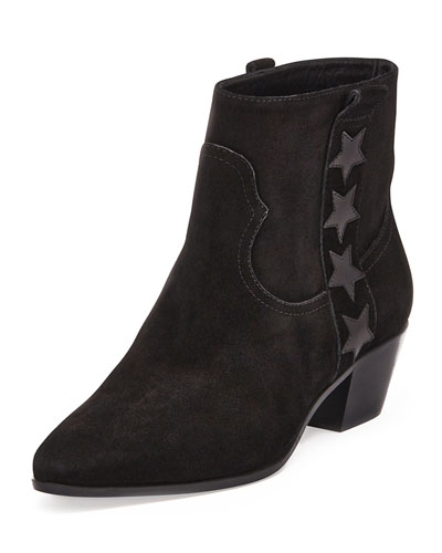 Get Authentic For Sale Saint Laurent Wyatt Star Ankle Boots Low Price Online NtMyq