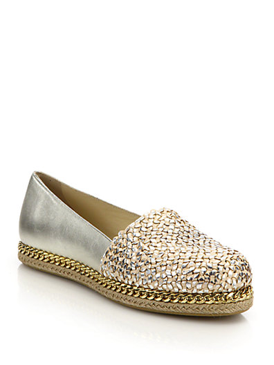 Stuart Weitzman Metallic Leather Flats free shipping low cost hs7ZbS1