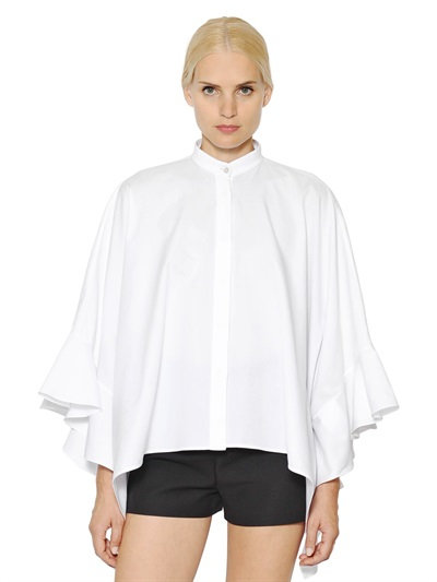 Valentino Sheer Ruffle Poncho Outlet Pictures Discount Online Outlet Best Seller Cheap Online Store Manchester For Cheap Cheap Online w4rpMGVs