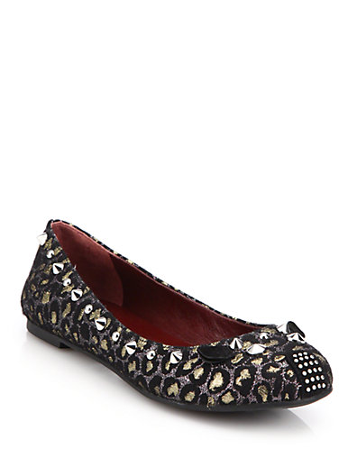 38875f410733b Marc By Marc Jacobs Punk Mouse Metallic Leopard Ballet Flats In Gold-Multi