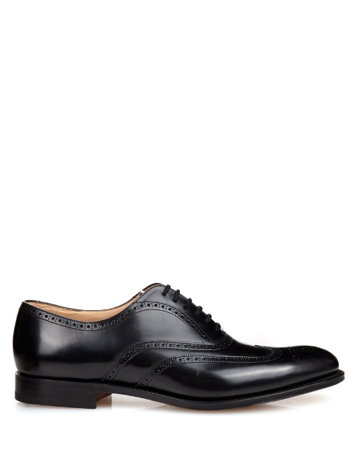 CHURCH'S Toronto Cap-Toe Leather Oxford Brogues, Black