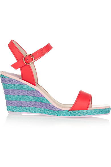 SOPHIA WEBSTER Lucita Leather Wedge Sandals
