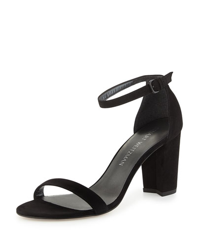 fc485d8762a9 STUART WEITZMAN Nearlynude Suede Chunky-Heel Sandal