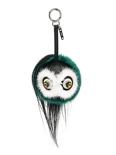 FENDI Mink Fur & Goat Fur Bag Bug in Green