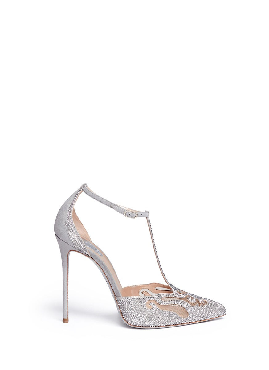 René Caovilla Rene Caovilla Suede Strass-Embellished Pumps amazing price online low shipping fee sale online countdown package online prices cheap price enjoy online k4Jxqez7O