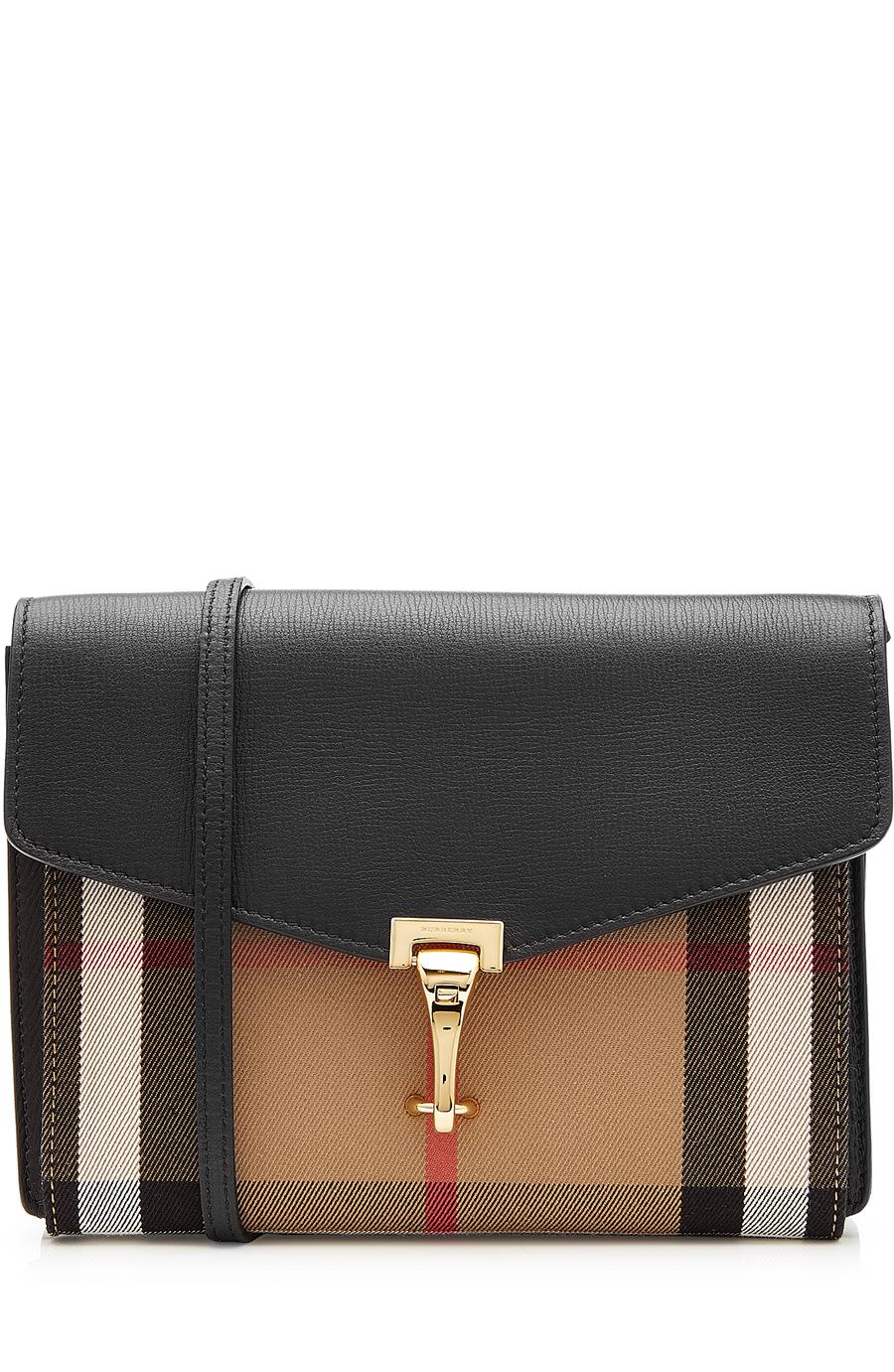 'Small Macken' House Check Crossbody Bag - Black