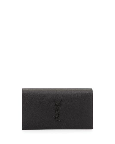 Smoking Monogram Patent Leather Clutch Bag, Black in 1000 Black