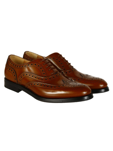 Burwood Leather Derby Shoes in Brown