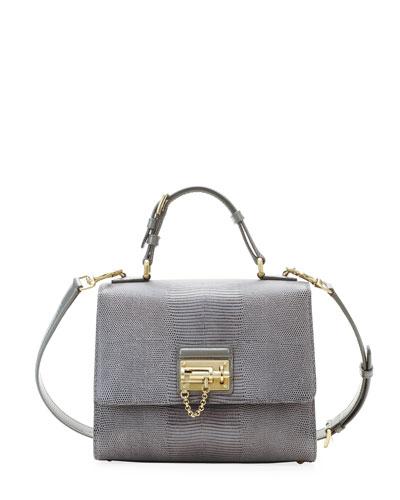 Monica embossed leather shoulder bag Dolce & Gabbana ooJsnKN