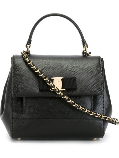 Carrie Vara Small Satchel Bag, Nero, Black