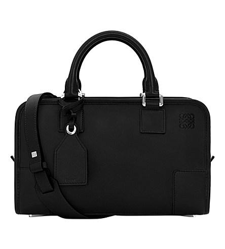 Amazona 28 Leather Tote Bag, Black/Palladium