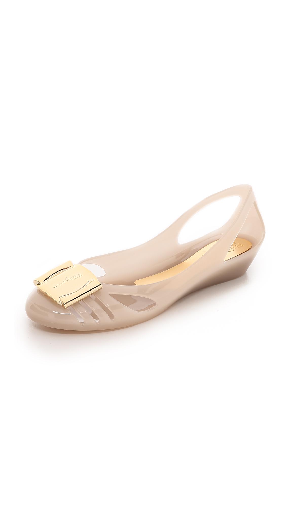 Salvatore Ferragamo Women's Jelly Ballerina Flat