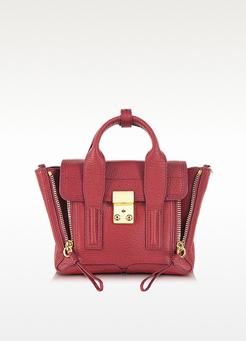 'Mini Pashli' Leather Satchel - Red