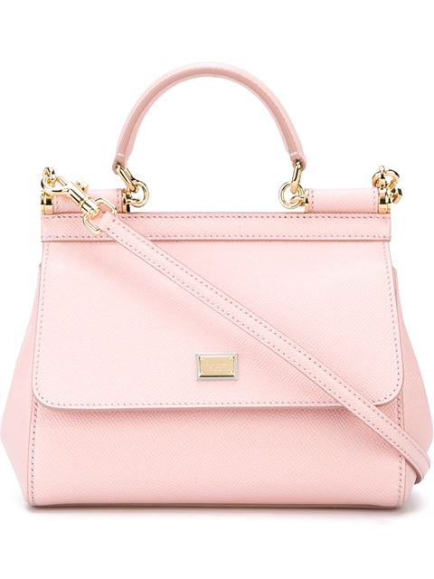 'Small Miss Sicily' Leather Satchel - Pink, Pink & Purple
