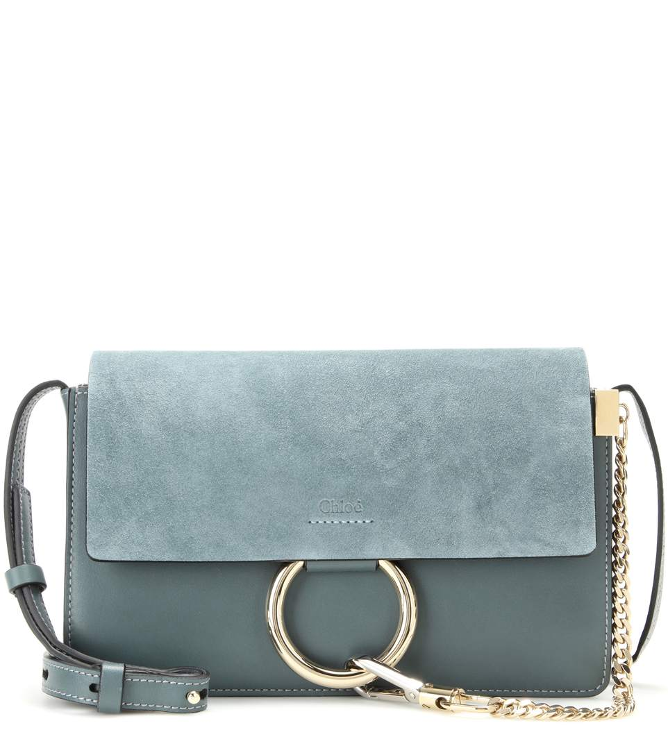 blue faye small leather shoulder bag Chloé High Quality Cheap Price Discount Best Store To Get XdlusmfNR