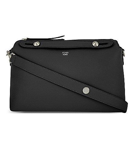 'Medium By The Way' Convertible Leather Shoulder Bag - Black