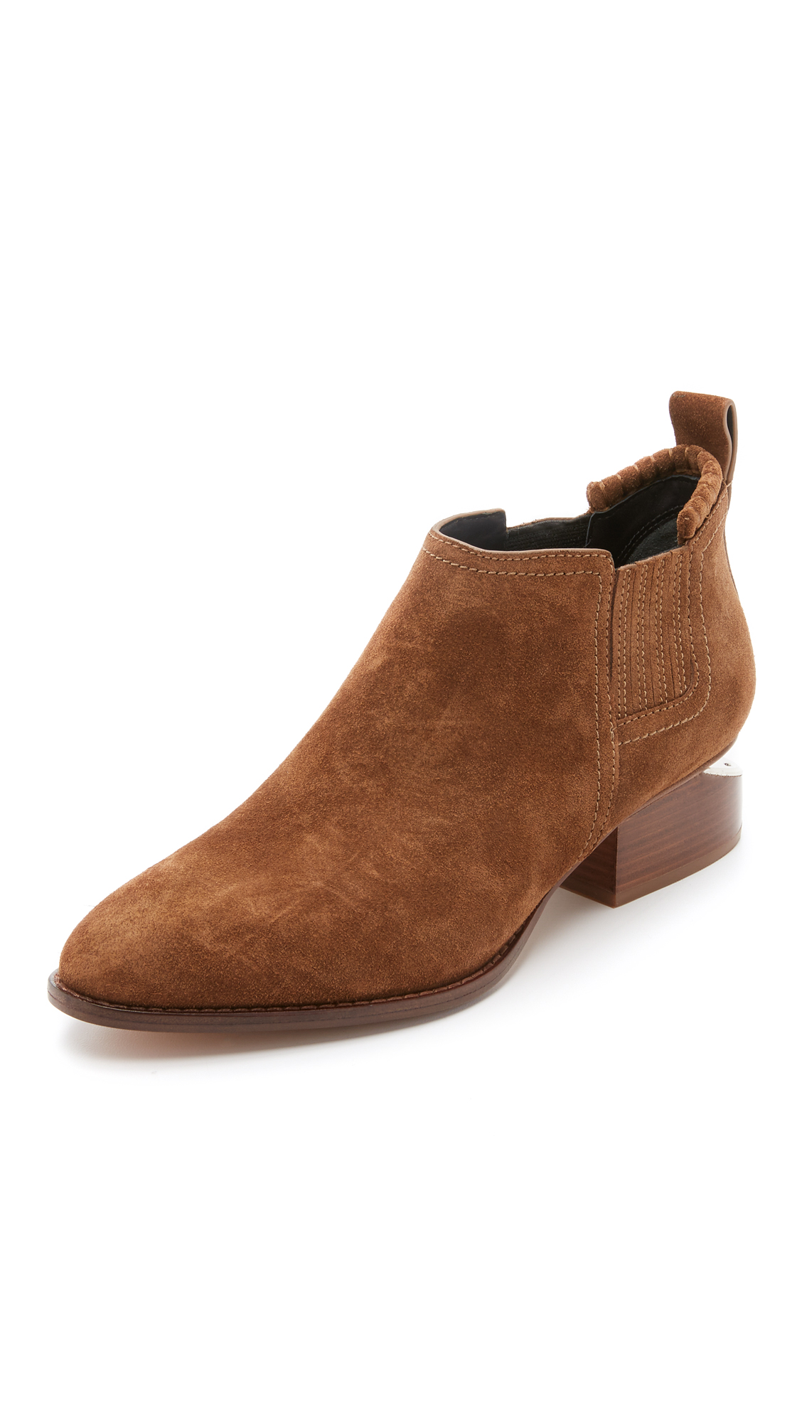 Woman Kori Suede Ankle Boots Light Brown, Dark Truffle