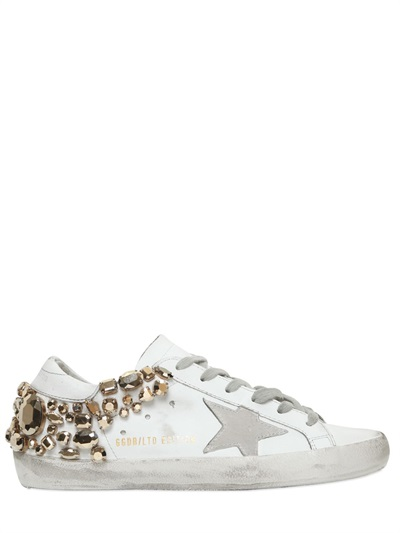 Free Shipping Clearance Store Buy Online Cheap Exclusive to mytheresa.com - Superstar Swarovski embellished leather sneakers Golden Goose 7m5TG