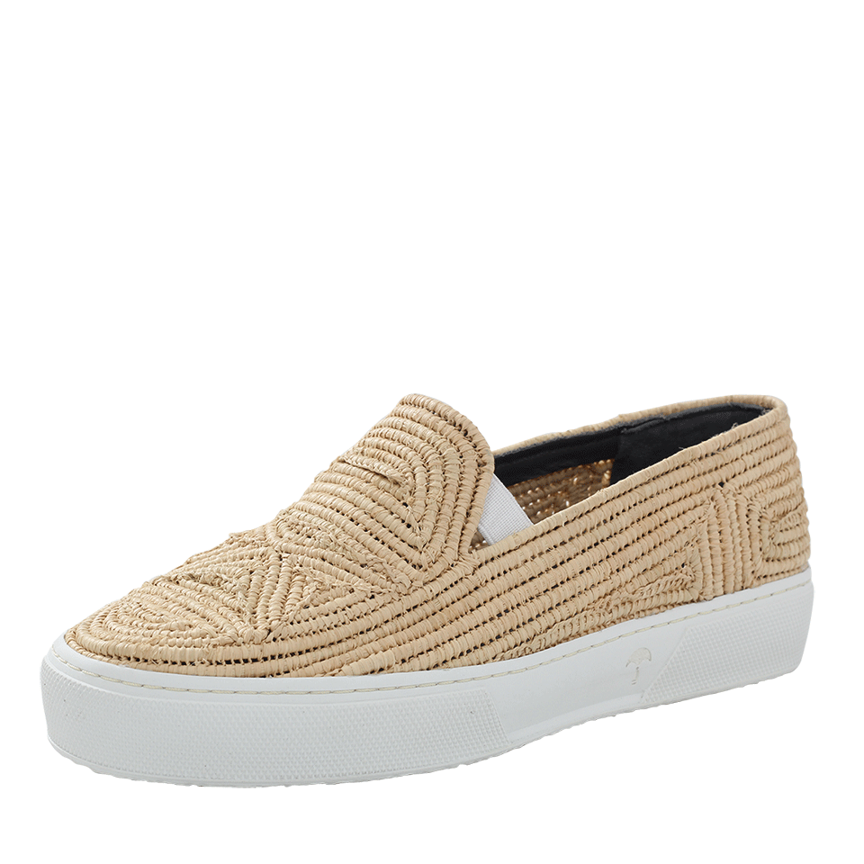 Tribal Raffia Sneakers, Natural