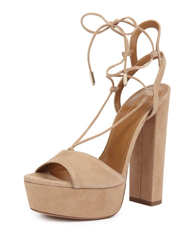 Aquazzura Austin Plateau 140 Sandals Discount With Mastercard ie8Uhs