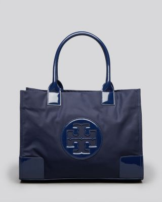 'Mini Ella' Nylon Tote - Blue