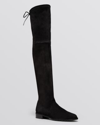 Women'S Lowland Stretch Suede Over-The-Knee Boots, Black