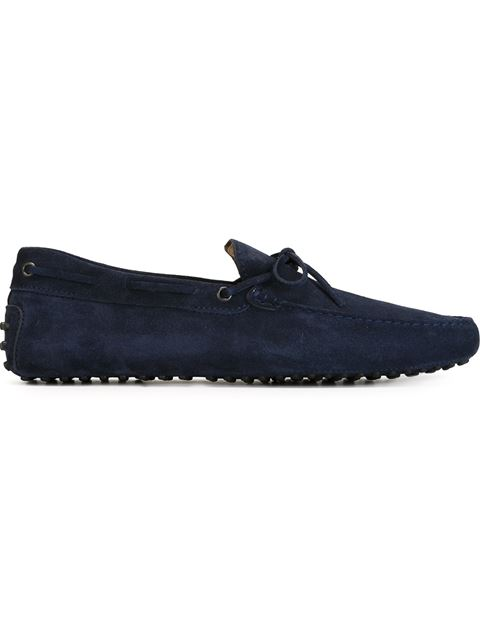 TOD'S Men'S Suede Loafers Moccasins Gommini Laccetto New Gommini in Blue