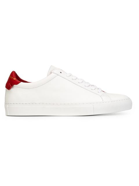 Paris Urban Street Sneakers In White And Red