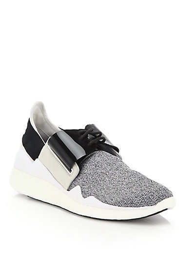 05a05854545db Y-3 Grey   White Chimu Boost Sneakers in Grey-White