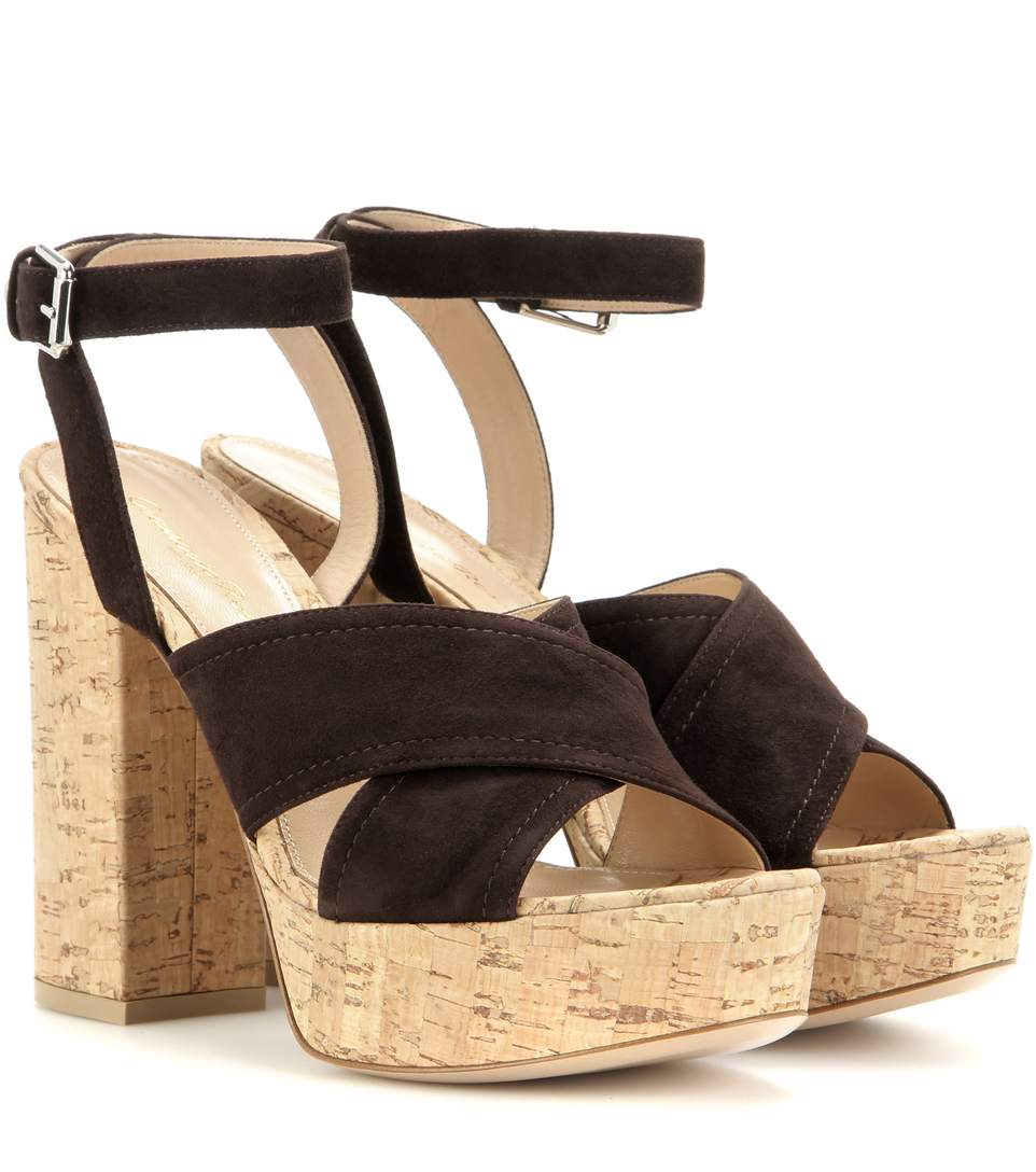 Mytheresa.Com Exclusive Suzie Suede Platform Sandals in Brown
