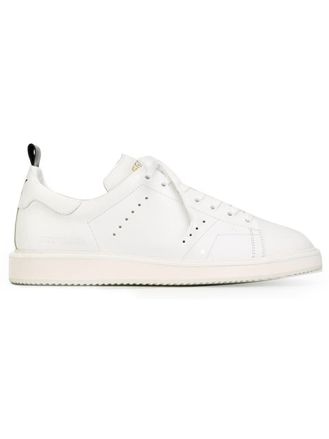 GOLDEN GOOSE Starter Leather Low-Top Trainers, White