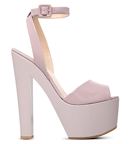 d4211c55451391 Giuseppe Zanotti Betty Patent Leather Heeled Sandals In Nude ...